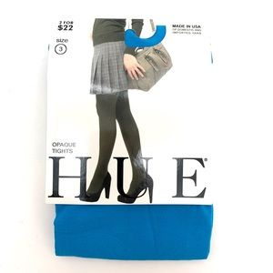 HUE Bluejay Opaque Tights NEW Size 3